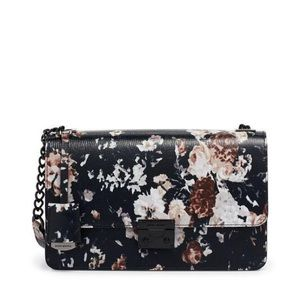 Henri Bendel Black Floral Crossbody New